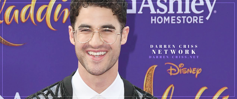 "Darren attends the Premiere of Disney's ""Aladdin"" in Los Angeles"